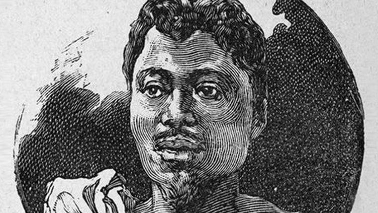 Portrait du roi Béhanzin. (Aublet, Edouard Edmond/La guerre noire ; conquête du Dahomey - New York Public Library)