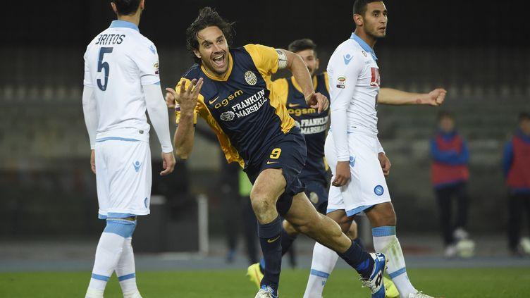 Luca Toni, sous les couleurs d'Hellas Vérone. (OLIVIER MORIN / AFP)