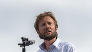 Le député socialiste Boris Vallaud, le 27 août 2017 à Frangy-en-Bresse (Saône-et-Loire). (ROMAIN LAFABREGUE / AFP)