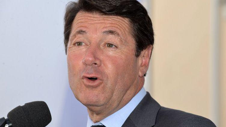 Christian Estrosi, le député-maire UMP de Nice (Alpes-Maritimes), lors d'un festival littéraire, le 13 juin 2014, à Nice. (AFP)