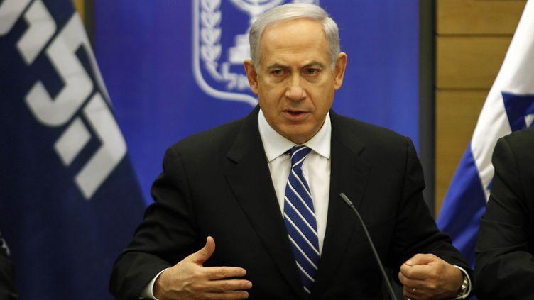 Le Premier ministre israélien Benyamin Netanyahu, le 14 mars 2013 au Parlement israélien, à Jérusalem. (GALI TIBBON / AFP)