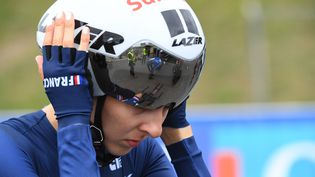 Juliette Labous est la seule représentante française sur le contre-la-montre des Jeux de Tokyo le 28 juillet. (NICOLAS CREACH / MAXPPP)