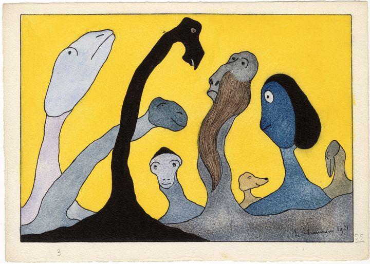 """Léopold Chauveau (1870-1940), """"Paysage monstrueux n°55"""", 1921, Paris, musée d'Orsay, don de Marc Chauveau par l'intermédiaire de la SAMO (Musée d'Orsay, 2019)"""