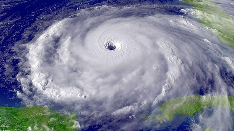 Image satellite d'un ouragan prise au dessus du golfe du Mexique (Photo AFP / Ann Ronan Picture Library)