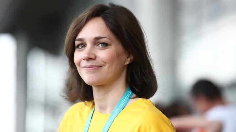 La présidente de la FFSG, Nathalie Péchalat (ARNAUD JOURNOIS / MAXPPP)