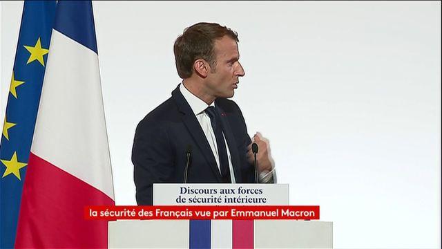 """Macron veut une """"réponse ferme"""" de la Justice aux violences faites contre les agents et un renforcement de leur accompagnement psychologique"""