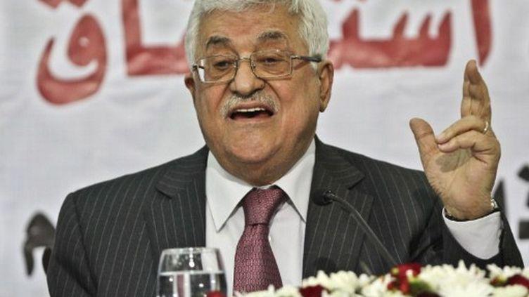 Le président palestinien, Mahmoud Abbas, à Ramallah le 16 mars 2011 (XINHUA-NOTIMEX - FADI AROURI - COR - POL)