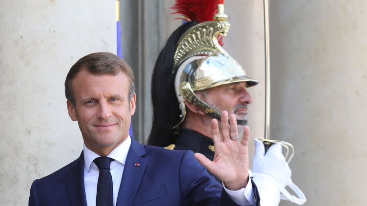 Emmanuel Macron, le 3 septembre 2019 à l'Elysée. (LUDOVIC MARIN / AFP)