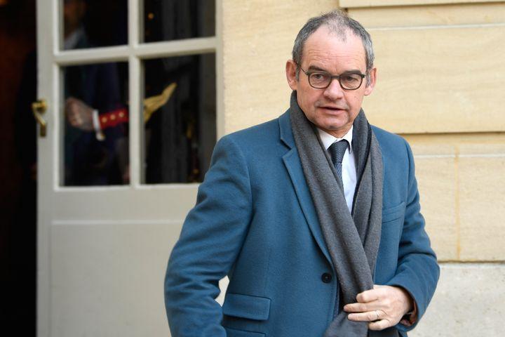 Patrick Jeantet, le président SNCF Réseau à l'Hôtel de Matignon à Paris, le 26 février 2018. (ERIC FEFERBERG / AFP)