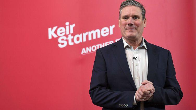 Keir Starmer lors d'un discours de campagne, le 31 janvier 2020 à Londres (Royaume-Uni). (JAMES VEYSEY/REX/SIPA)