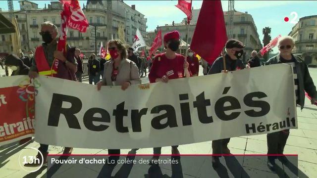 Pouvoir d'achat : en colère, les retraités manifestent à Montpellier