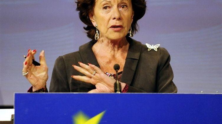 La commissaire européenne à la Concurrence, Neelie Kroes, le 12 mai 2009. (© AFP/DOMINIQUE FAGET)