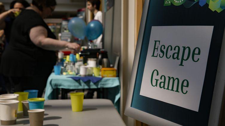 """Un """"Escape game"""" dans un lieu parisien. (GEOFFROY VAN DER HASSELT / AFP)"""