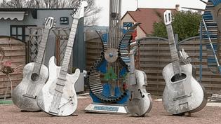 Partie du monument en hommage à Johnny  (France 3 Culturebox capture d'écran)