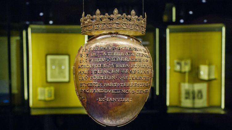 Le reliquaire du cœur d'Anne de Bretagne, l'ancienne reine de France, a été volé samedi 14 avril 2018, à Nantes (Loire-Atlantique), au musée Dobrée. (GUILLAUME SOUVANT / AFP)