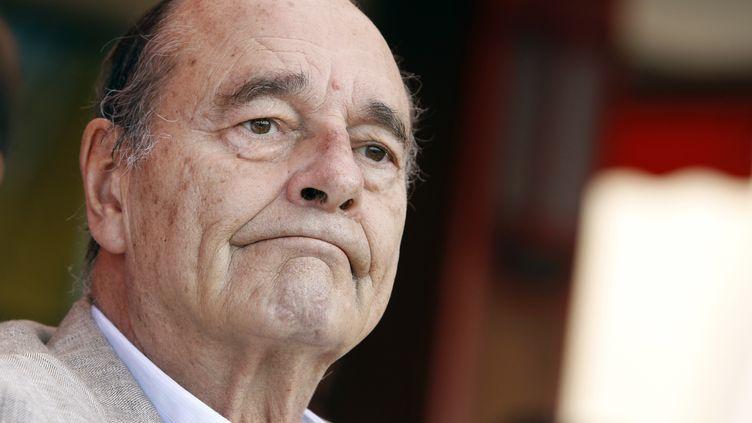Jacques Chirac à Saint Tropez le 14 août 2011. (SEBASTIEN NOGIER / AFP)