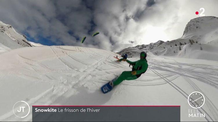 Pratique du snowkite (France 2)