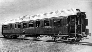 Le wagon dans lequel l'armistice a été signée en 1918 à Rethondes (Oise). (CAP / ROGER-VIOLLET / AFP)