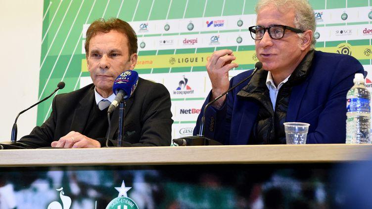 En avril 2021, Bernard Caïazzo et Roland Romeyer avait annoncé leur intention de vendre l'AS Saint-Etienne. (PHOTO YVES FLAMMIN / MAXPPP)