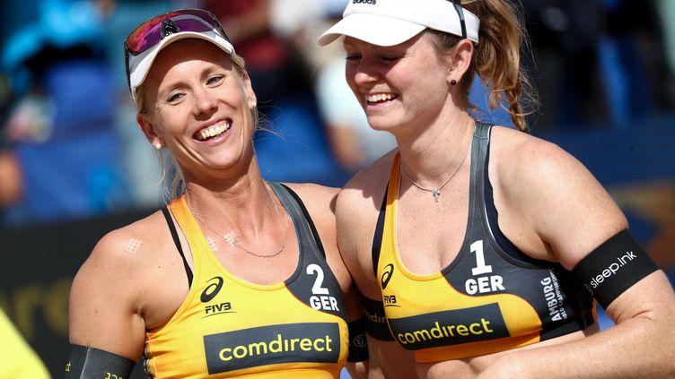 Karla Borger et Julia Sude ont annoncé qu'elles allaient boycotter un tournoi au Qatar en raison de l'interdiction de porter un bikini sur le terrain.  (CHRISTIAN CHARISIUS / DPA)