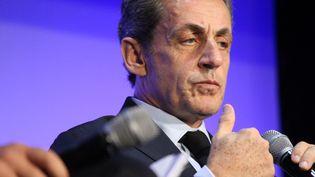 Le candidat à la primaire de droite Nicolas Sarkozy le 27 septembre 2016 à Paris. (CITIZENSIDE/PAUL ALFRED-HENRI / CITIZENSIDE / AFP)