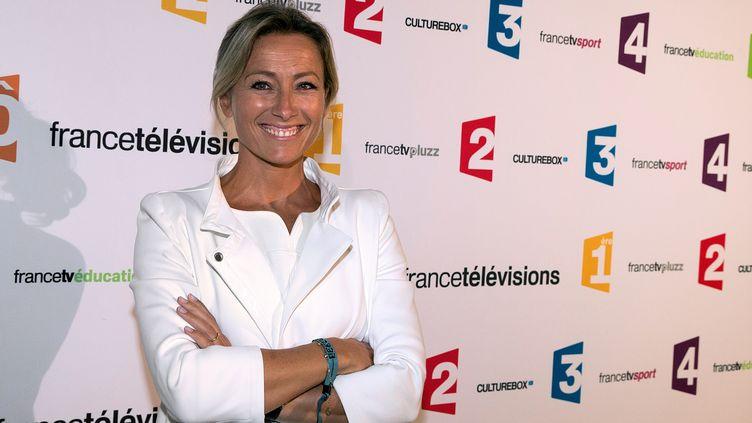 La journaliste Anne-Sophie Lapix, dans les locaux de France Télévisions (Paris), le 26 août 2014. (JOEL SAGET / AFP)