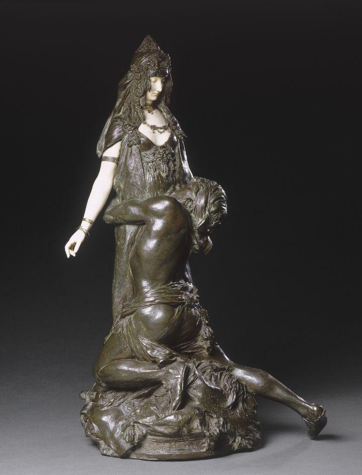 """Théodore Rivière, """"Salammbô chez Mathô, Je t'aime ! jet'aime !"""", 1895. Paris, musée d'Orsay (HERV? LEWANDOWSKI / RMN-GP / AGENCE PHOTO DE LA RMN-GP)"""