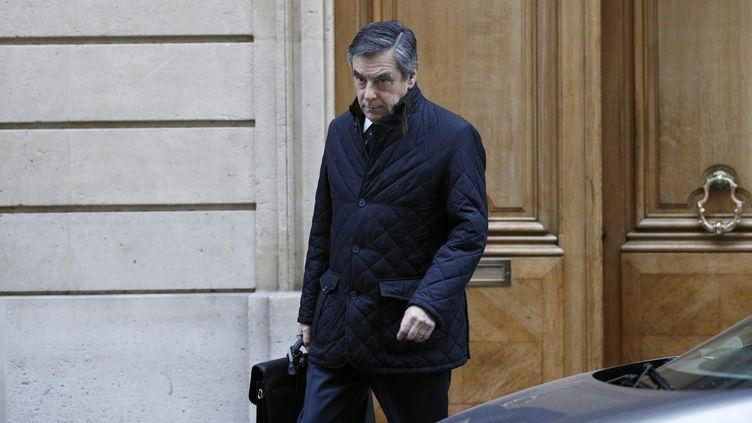 François Fillon quittant son domicile, le 2 février 2017, à Paris. (MAXPPP)