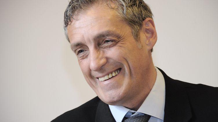 Le dissident socialiste Philippe Saurel, vainqueur de l'élection municipale àMontpellier (Hérault), le 25 mars 2013. (PASCAL GUYOT / AFP)