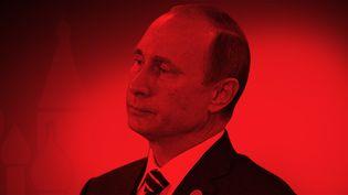 Vladimir Poutine se présente pour un quatrième mandat de président de la Russie,le 18 mars 2018. (BAPTISTE BOYER / FRANCEINFO)