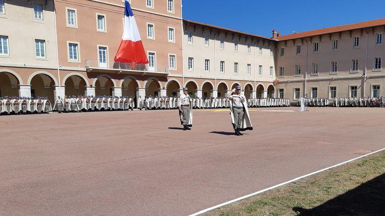 La 1er régiment de Spahis de Valence en juillet 2019. (NATHALIE RODRIGUES / FRANCE-BLEU DRÔME-ARDÈCHE)