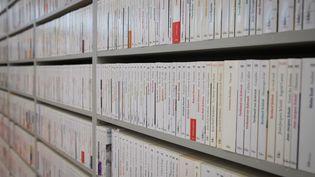 Rayonnages de livres au salon du livr e2019 à Paris (JOEL SAGET / AFP)