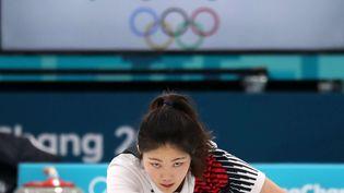 Jang Hye-ji, membre de l'équipe olympique sud-coréenne de curling, le 7 février 2018 à Pyeongchang. (YONHAP NEWS / NEWSCOM / SIPA)