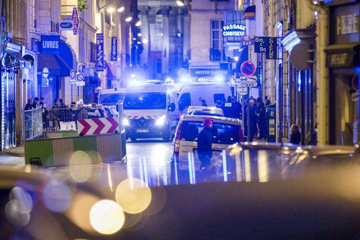 Une attaque au couteau a été perpétrée près de la place de l'Opéra à Paris, dans la soirée du 12 mai 2018. (AURELIEN MORISSARD / MAXPPP)