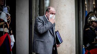 Eric Dupond-Moretti, garde des Sceaux, à l'issue du Conseil des ministres, le 7 octobre 2020. (ARTHUR NICHOLAS ORCHARD / HANS LUCAS / AFP)