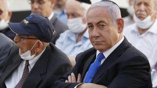 Benjamin Netanyahou à Tel Aviv, en mai 2021. (JACK GUEZ / AFP)