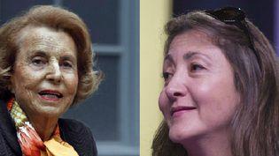 Liliane Bettencourt (à g.) le 12 octobre 2011 à Paris, et Ingrid Betancourt, le 10 mars 2012 à La Plaine-Saint-Denis. (AFP)