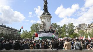 Le rassemblement organisé en solidarité avec le peuple palestinien, samedi 22 mai 2021 à Paris. (MAXPPP)