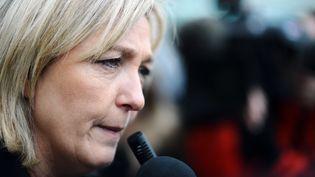 Marine Le Pen, candidate du FN à la présidentielle, le 7 mars 2012 à Paris. (MARTIN BUREAU / AFP)