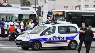 Une agression au couteau a eu lieu samedi 31 août près dela gare routière Laurent-Bonnevay à Villeurbanne dans le Rhône. (PHILIPPE DESMAZES / AFP)