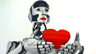 """""""Robot mon amour"""" la déclaration d'amour de France Cadet passe par la médiathèque de Pau  (France 3 / Culturebox)"""