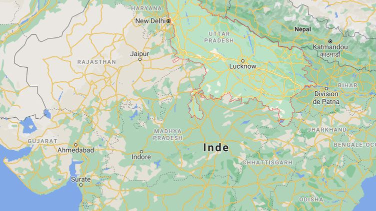 Un accident mortel s'est déroulé au nord de l'Inde, dans l'Etat deUttar Pradesh, le 28 juillet 2021. (CAPTURE ECRAN GOOGLE MAPS)
