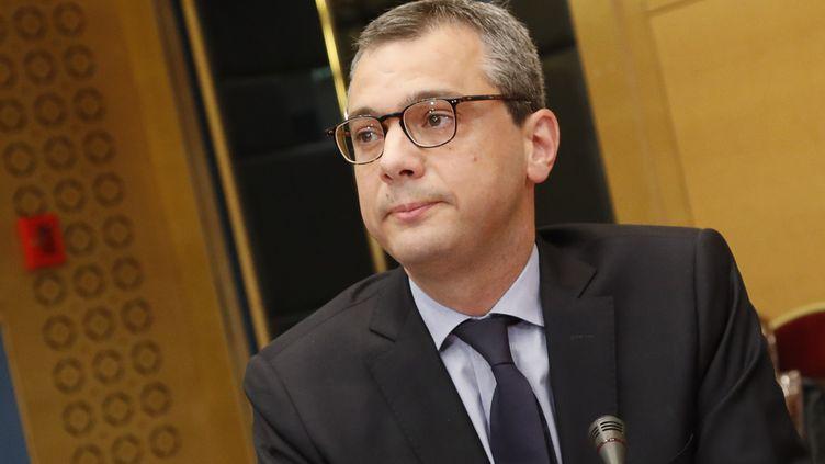 Le secrétaire général de l'Elysée Alexis Kohler, le 26 juillet 2018, au Sénat, à Paris. (FRANCOIS GUILLOT / AFP)