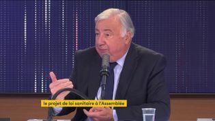 Gérard Larcher, président LR du Sénat, était l'invité du 8h30 franceinfo le 21 juillet 2021. (FRANCEINFO / RADIO FRANCE)