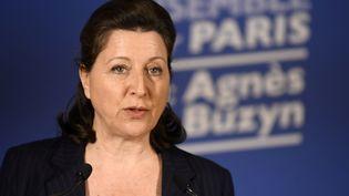 Agnès BuzYn candidate LREM à la mairie de Paris, le 15 mars 2020. (JULIEN DE ROSA / POOL)
