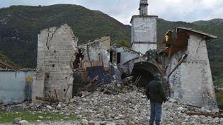 Les ruines de l'église deCampi di Norcia, dans le centre de l'Italie, le 27 octobre 2016. (REUTERS)