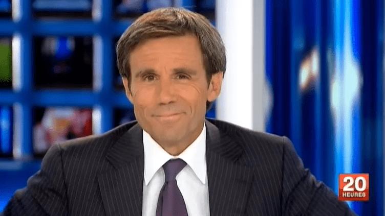 David Pujadas présente le journal télévisé, sur France 2, le 29 août 2011. (FRANCE 2)