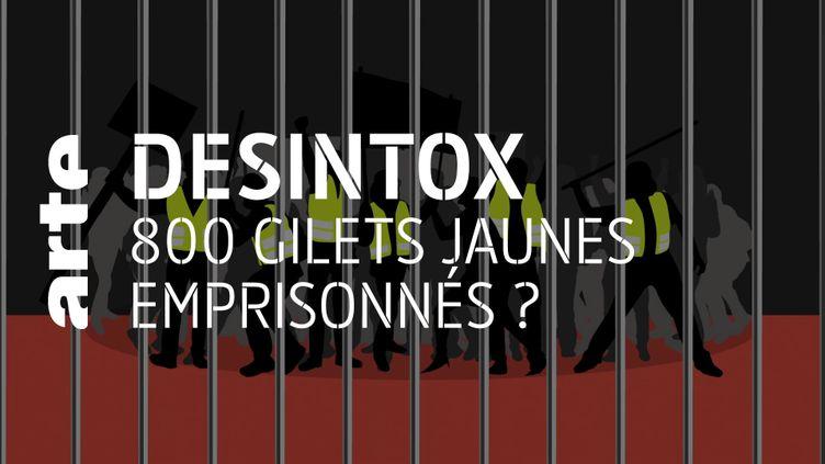 Désintox. Non, il n'y a pas 800 gilets jaunes emprisonnés actuellement (ARTE/2P2L)