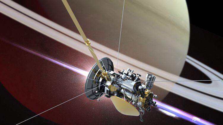 La sonde Cassini en orbite autour de Saturne. (SCIENCE PHOTO LIBRARY)