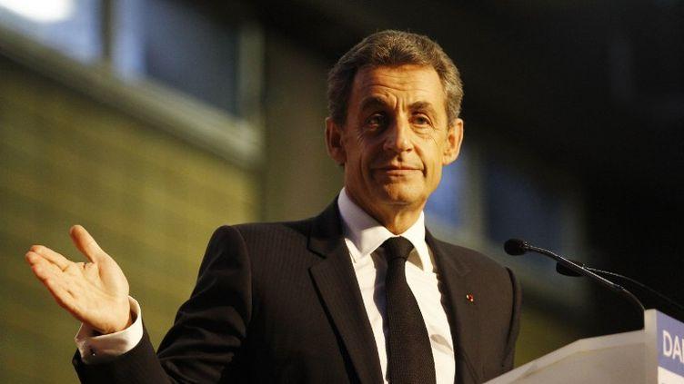 Nicolas Sarkozy à Dammarie-les-Lys (Seine-et-Marne), le 20 mars 2015. (CITIZENSIDE/FRANÇOIS LOOCK / AFP)
